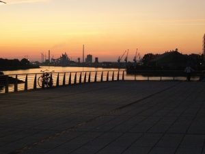 A sunset in Bremen.