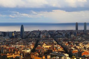 A view of the city of Barcelona.