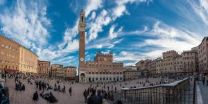 A view of the Piazza del Campo in Siena.
