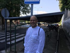 Christian Wilhelm standing on a Madrid street